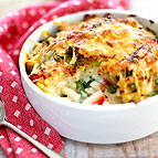 Vegetable And Macaroni Cheese Bake