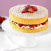 Classic strawberry sponge cake