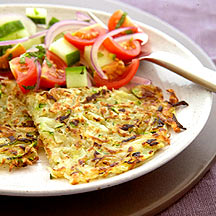 Courgette Rosti with Chilli Mint Salsa