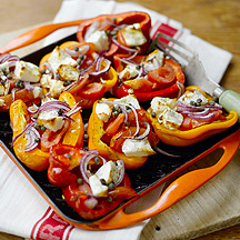 Feta Stuffed Roasted Peppers